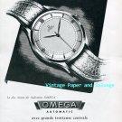 Omega Automatic Watch Advert Vintage 1945 Swiss Print Ad Publicite Suisse Switzerland