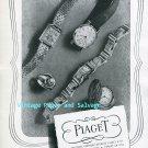 Piaget Watch Company Georges Piaget & Cie Switzerland Vintage 1945 Swiss Ad Publicite Suisse 1940s