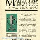 Ferdinand Berthoud Marine Timekeepers and Their Trials at Sea by L Defossez Vintage Horology