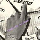 Vintage 1952 Exactus Watch Company Neuchatel Switzerland Original 1950s Swiss Ad Advert Suisse