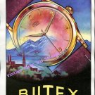 Vintage 1952 Butex Watch Company Buttes BWC Switzerland 1950s Swiss Print Ad Suisse