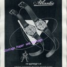 Vintage 1952 Atlantic Watch Company Ed Kummer SA Switzerland 1950s Swiss Ad Advert Suisse