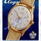 Vintage 1952 Eloga Watch Company Lengnau Switzerland 1950s Swiss Print Ad Publicite Suisse