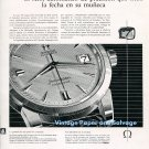 Vintage 1958 Omega Calendar Seamaster Watch Advert 1950s Spanish Print Ad Spain Omega CH