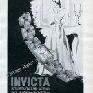 Vintage 1946 Invicta Watch Company La Chaux-de-Fonds Switzerland 1940s Swiss Print Ad Advert Suisse