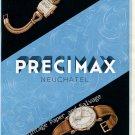 Vintage 1946 Precimax Watch Company Neuchatel Switzerland 1940s Swiss Print Ad Suisse Publicite