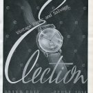 Vintage 1946 Election Watch Company Switzerland Original 1940s Swiss Print Ad Advert Suisse