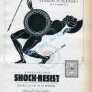 1946 Shock Resist Erismann-Schinz SA Vintage 1940s Swiss Ad Advert Suisse Switzerland