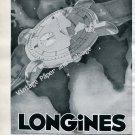 1946 Longines Switzerland Vintage 1940s Swss Ad Advert Suisse Schweiz