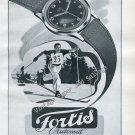 1946 Fortis Watch Company Switzerland Vintage 1940s Swiss Ad Advert Suisse Schweiz