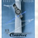 1946 Cortebert Watch Company Switzerland Vintage 1940s Swiss Ad Advert Suisse Schweiz Suiza