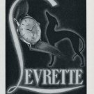 1951 Levrette Watch Company Chs Wilhelm & Co S.A. Switzerland Swiss Ad Advert Suisse