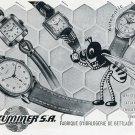 Vintage 1951 Ed Kummer SA Atlantic Watch Co Aristex Opus Swiss Print Ad Advert Suisse