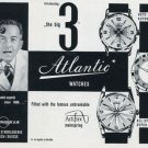 1956 Atlantic Watch Company Ed Kummer SA Switzerland Swiss Ad Advert Suisse