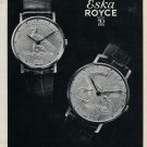 1970  S Kocher & Co Eska Royce Watch Co 50th Anniversary Swiss Ad Advert Suisse Switzerland