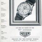 1951 Heuer Watch Company Bienne Switzerland 91st Anniversary Swiss Ad Advert