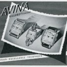 Vintage 1947 Lavina Watch Company Tradition Excellence Technique Swiss Ad Advert