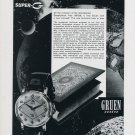 1958 Gruen Super-G Watch Advert Gruen Geneve Switzerland Swiss Print Ad Suisse