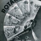 Vintage 1946 Rotary Watch Co Fils de Moise Dreyfuss Switzerland Swiss Ad Advert Suisse