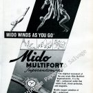 Mido Multifort Superautomatic Watch Advert Vintage 1946 Swiss Ad Advert Suisse 1940s