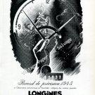 Longines Switzerland Record de Precision Vintage 1946 Swiss AdAdvert Suisse 1940s Switzerland
