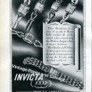 Invicta Watch Company Switzerland Vintage 1946 Swiss Ad Advert Suisse Suiza 1940s