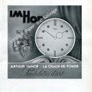 Imhof Clock Company Arthur Imhof Pendulettes d'Art 1946 Swiss Ad Advert Suisse Switzerland