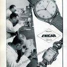 Enicar SA Watch Company Switzerland Vintage 1946 Swiss Ad Advert Suisse 1940s