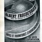 Albert Froidevaux Switzerland Vintage 1946 Swiss Ad Advert Publicite Suisse Horlogerie Horology
