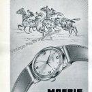 Moeris Watch Company St-Imier Switzerland Vintage 1946 Swiss Ad Advert Suisse 1940s
