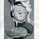 Helios Fabrique d'Horlogerie Helios Watch Company Switzerland 1946 Swiss Ad Advert Suisse