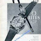 1957 Titus Watch Company Solvil et Titus SA Switzerland Swiss Ad Advert Suisse