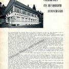 1957 A Huguenin & Fils Watch Factory Celebrate 100th Anniversary Switzerland