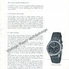 Breitling Navitimer 1957 Swiss Magazine Article Les Voyages Par Air by G Caspari