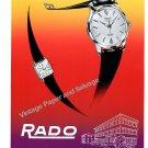 /Rado Watch Company Schlup & Co Ltd Switzerland Vintage 1957 Swiss Ad Advert Suisse 1950s