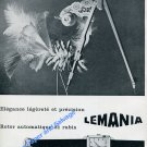 Vintage 1957 Lemania Lugrin SA Watch Company Switzerland Swiss Ad Advert Suisse 1950s