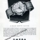 Vintage 1951 Omega Seamaster A Major Wartime Success RAF Pilots 1950s Swiss Ad Advert Suisse