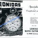 Vintage 1951 Leonidas Watch Factory St-Imier Switzerland Swiss Ad Advert Suisse