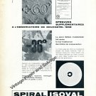 1959 Spiral Isoval Spiraux Reunies Switzerland Swiss Ad Advert Suisse Horlogerie