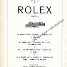 1959 Rolex 380,000 Chronometers Vintage 1950s Swiss Ad Advert Suisse Switzerland