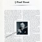 1951 Paul Tissot Tissot Watch Company Switzerland Memorial Obituary Swiss Suisse