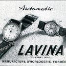 1950 Lavina Automatic Watch Advert Vintage Swiss Print Ad Suisse Switzerland