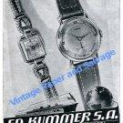 1950 Ed Kummer SA Atlantic Watch Co Opus Aristex Ariston Swiss Ad Advert Suisse
