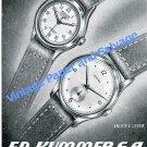 1950 Ed Kummer Atlantic Watch Company Aristex Bettlach Switzerland Swiss Advert