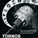 Vintage 1959 Tornos Moutier Switzerland Swiss Ad Advert Suisse Horlogerie Horology