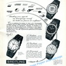 1957 Breitling Aviation KLM United Airlines Lockheed BOAC Pilot Flying 1950s Swiss Ad Suisse