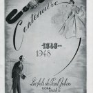 1948 Flora Watch Co Les Fils Paul Jobin 100 Year Anniversary Vintage Swiss Ad Advert Suisse