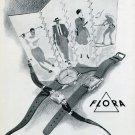 1946 Paul Jobin Flora Watch Company Switzerland 1940s Swiss Print Ad Advert Suisse