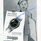 Vintage 1948 Silvana Sport Watch Advert 1940s Swiss Print Ad Suisse Switzerland