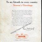 1948 Rolex Season's Greetings to My Friends in Every Country Hans Wilsdorf Swiss Ad Advert Suisse